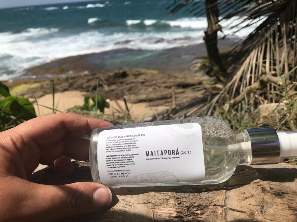 Maitaporá skin, cuidado de la piel , Christian  Carbajal, hecho en México, algas marinas,  papaya, romero, tónico balanceados PH